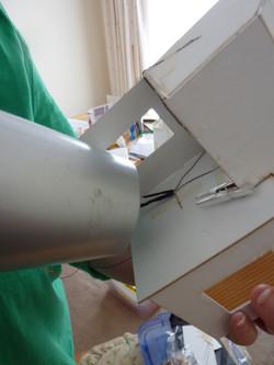 55. blow wave shrink wrap tubing to melt around wires.JPG