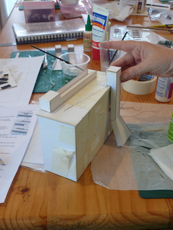 68. making the second chimney with a flap for the lighting battery.JPG