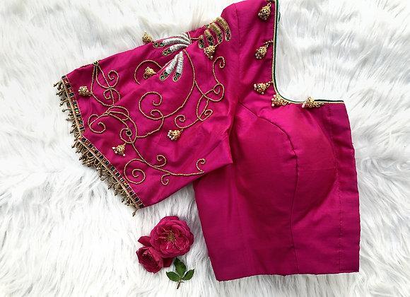 Pink Jhumka Blouse