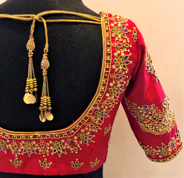 Multi coulour jewel Blouse