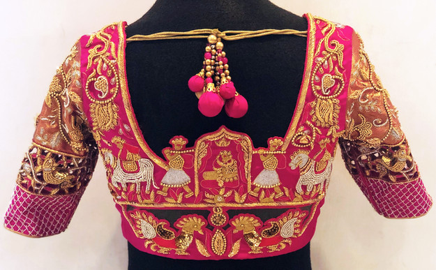 Doli silver and gold blouse
