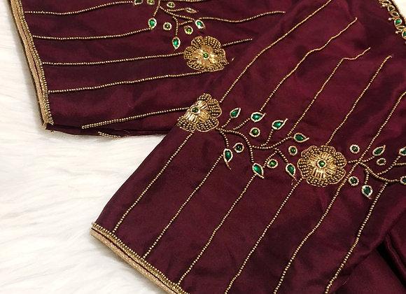 Maroon line blouse