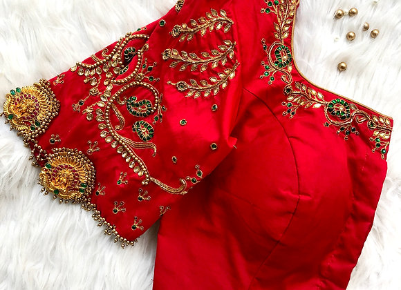 Red Pendant Blouse
