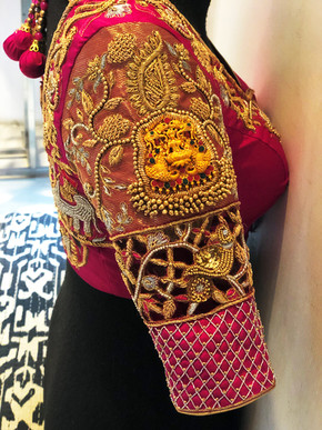 Lakshmi pendant cutwork sleeve