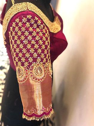 Gridwork Jhumka blouse