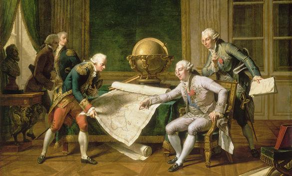 Louis XVI donnant ses instructions