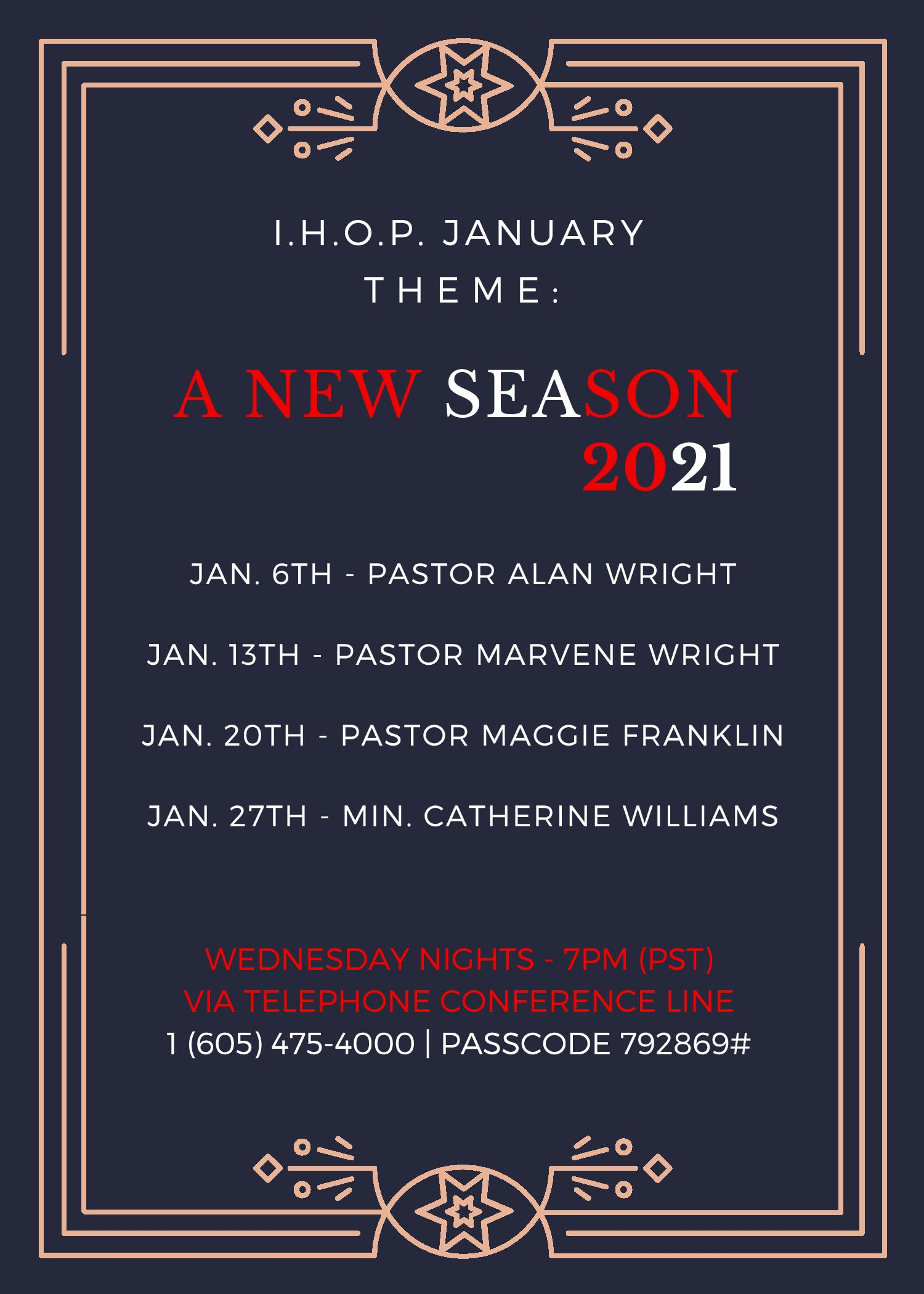 IHOP Jan 2021