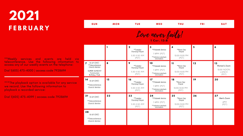 ICWCA Calendar - Feb'21