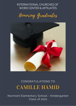 Camille Hamid 2021 Graduate