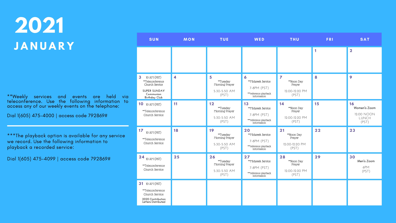 ICWCA Calendar - Jan 2021