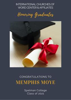 Memphis Moye 2021 Graduate