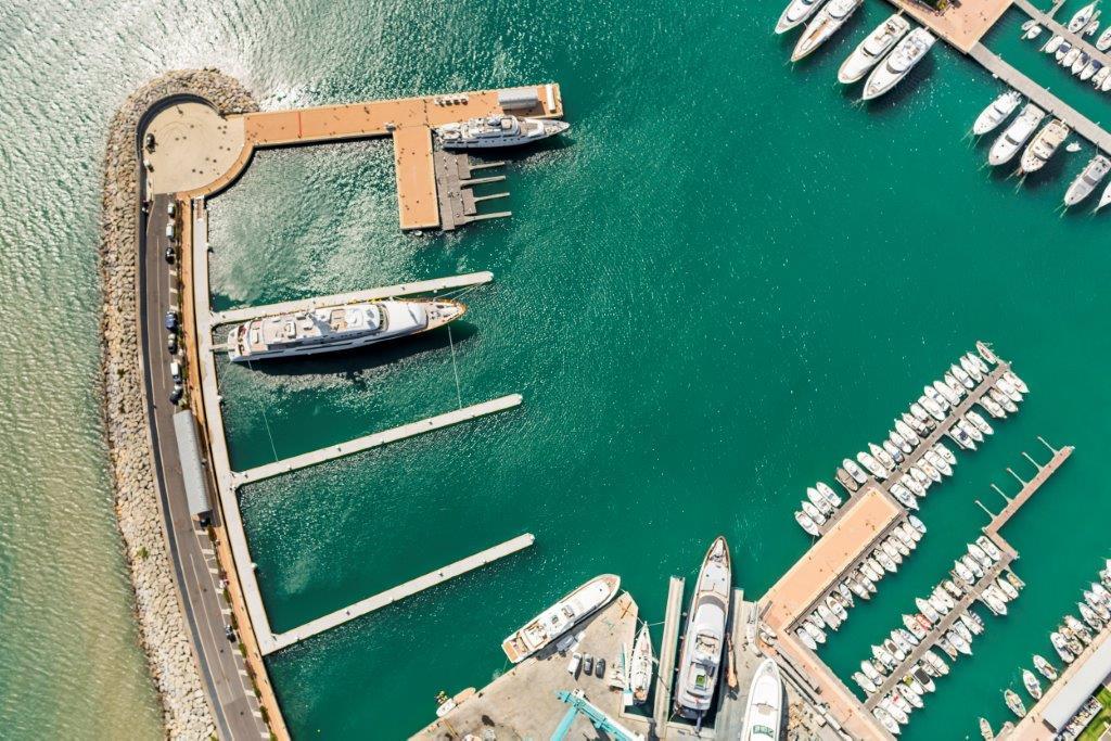 Yachtplätze von oben