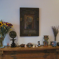 Goddess on Altar