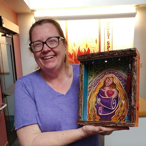 Cathy with a Shrine!