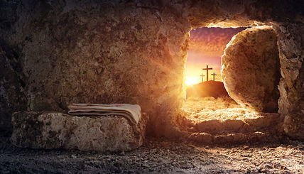 Crucifixion and Resurrection Background.