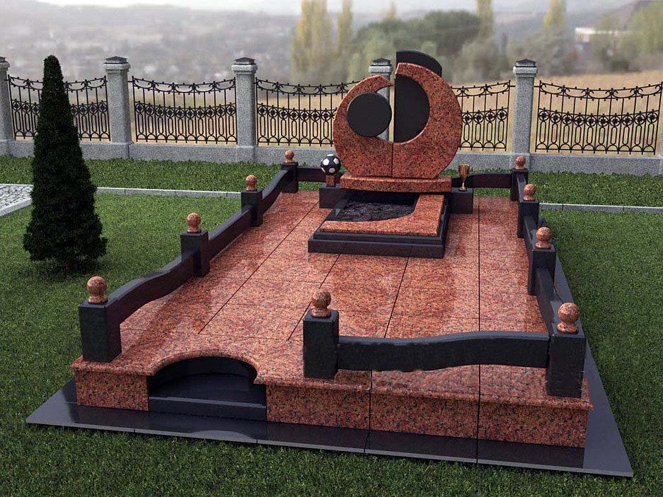 Площадки на могилу из гранита