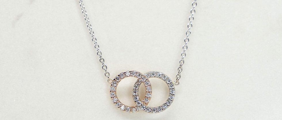 Collar Dolce Vita doble con diamantes