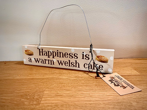 Welsh Cake Slogan Beige Spotted Plaque