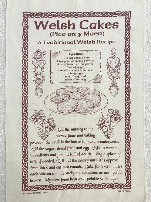 Welsh Cake Tea Towel (large)