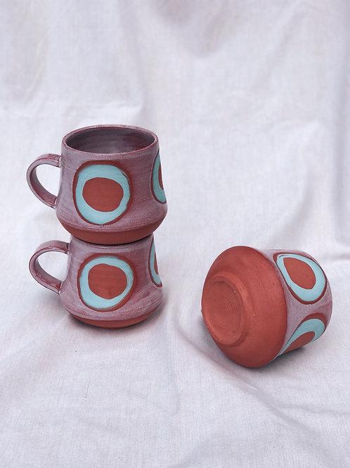Terra Cotta and Teal Circle Mug
