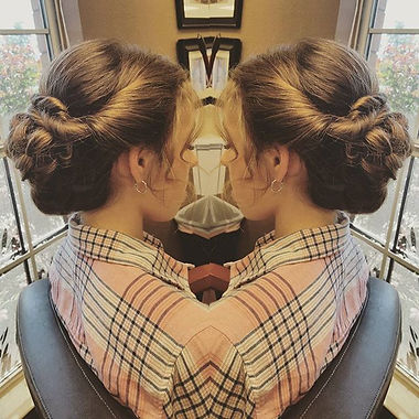 Updo number one!