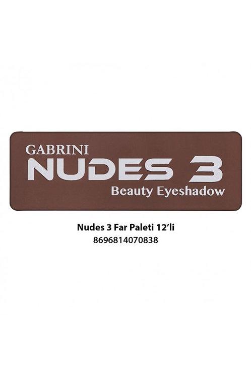 GABRINI Nudes 3 Beauty Eyeshadow 22g