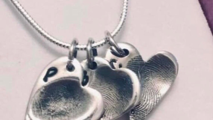 Small silver fingerprint pendant
