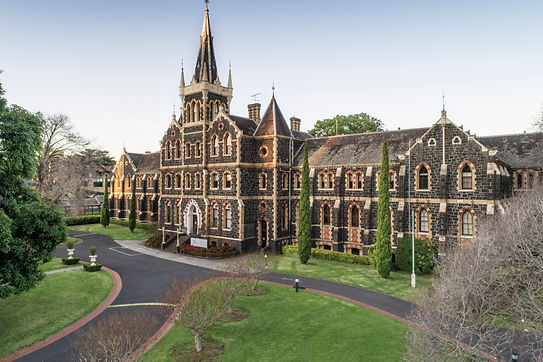 The front of Deaf Children Australia's iconic bluestone building