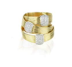 Gold stacked ring