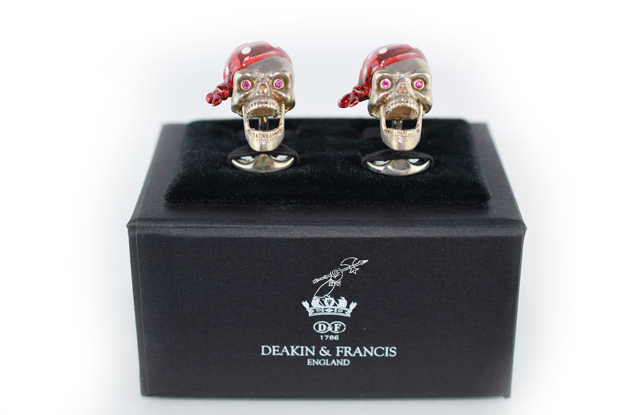 cuff links skeletons