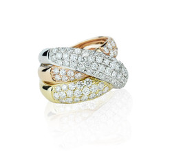 Tritone stacked ring