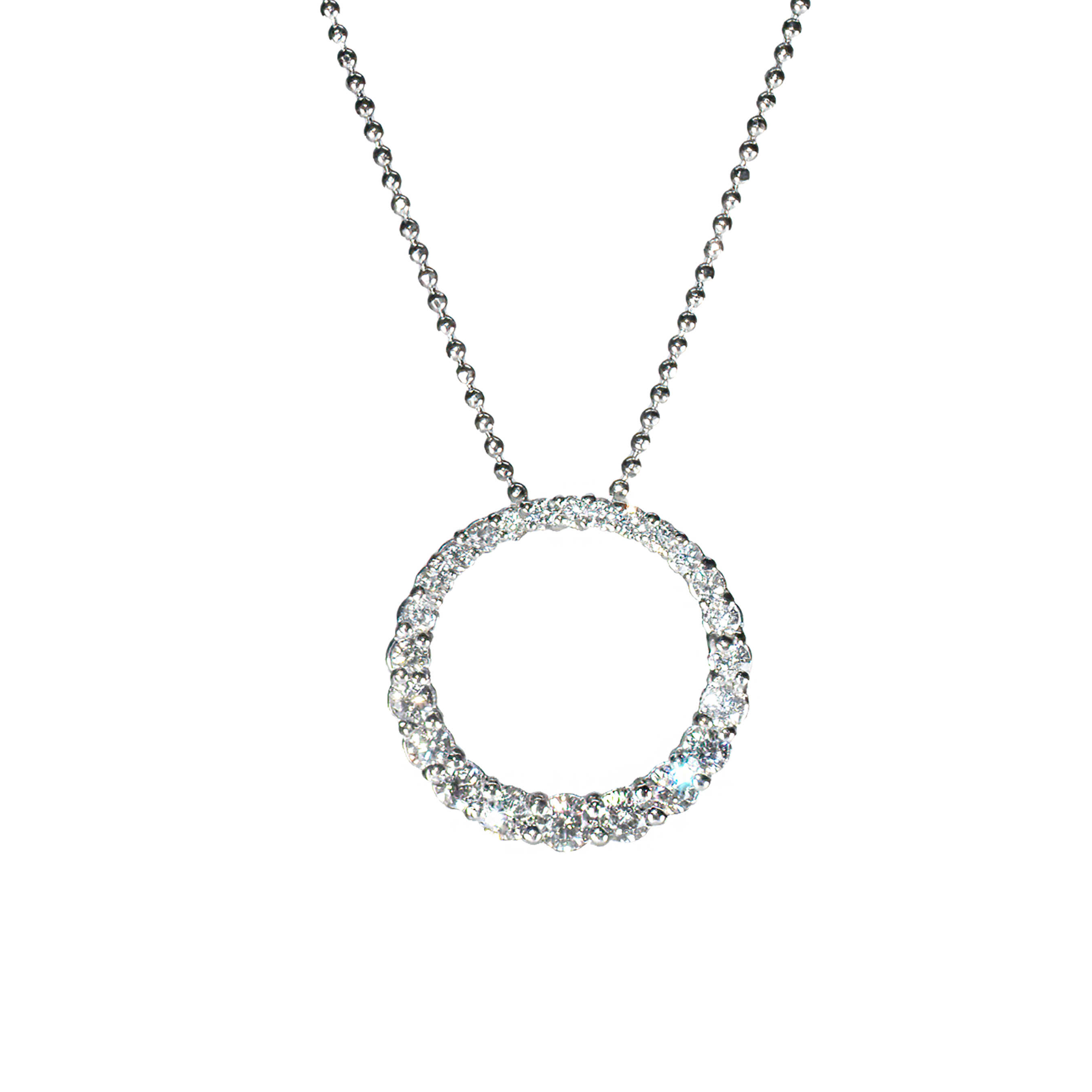 diamond circle pendant 2020