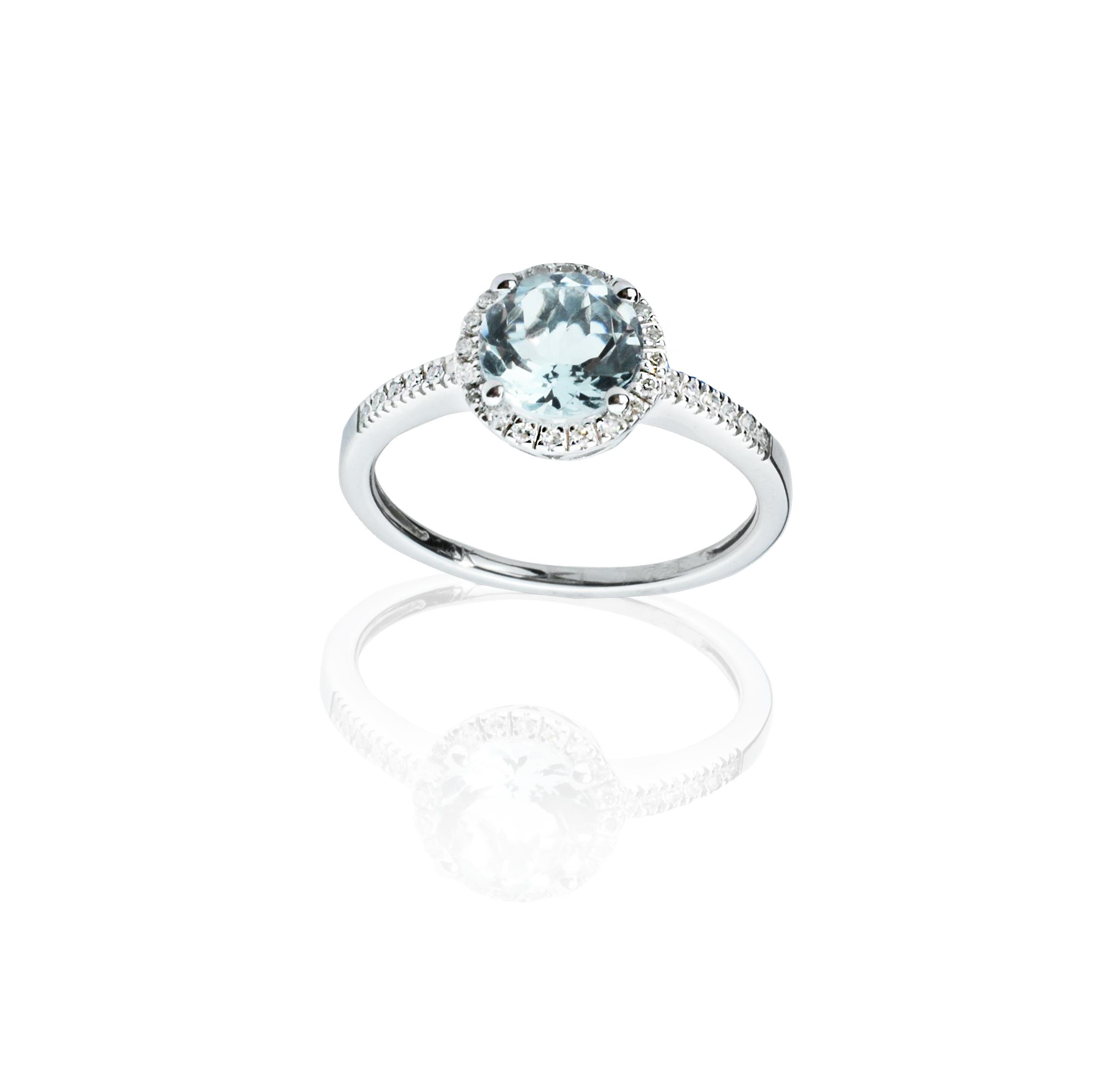 delicate aqua ring