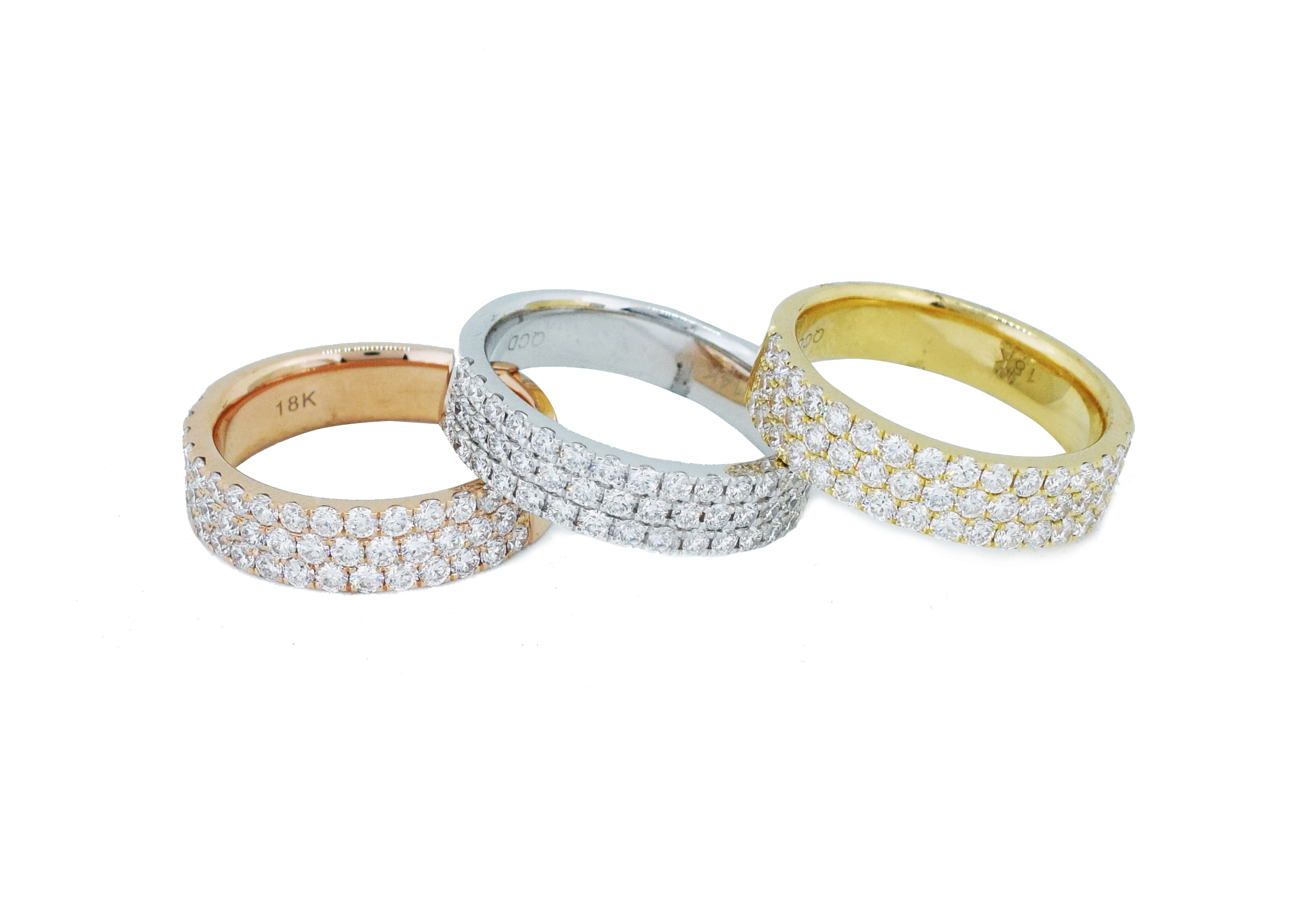 3 diamond bands