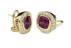 Rubilite earrings