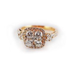 diamond and rosegold ring