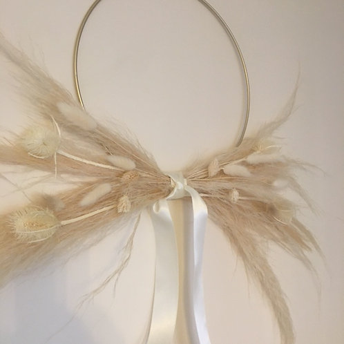 Pampas & Dried Flower Hoop