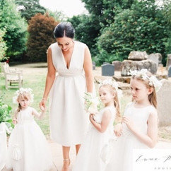 Maid of honour and bridesmaids #flowercr