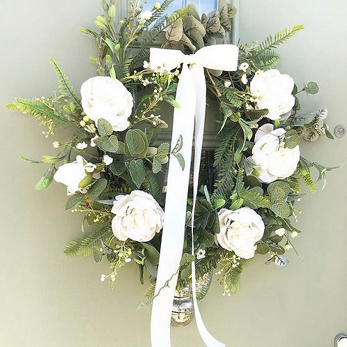 Peony Blossom Wreath
