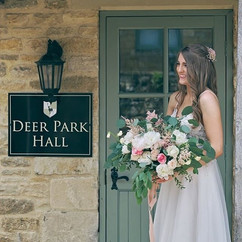 Such a beautiful bride!  @deer_park_hall