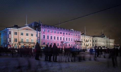 Retki Helsinkiin LUX-Valotapahtumaan ja Kiasmaan tammikuussa 2017. Kuva: Hannu Pusa