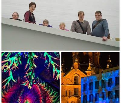 Helsinki LUX-valotapahtuma ja Kiasma