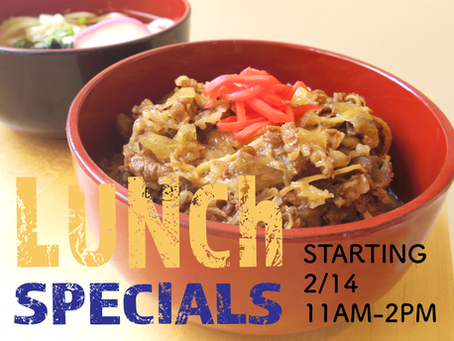 NEW LUNCH SPECIALS