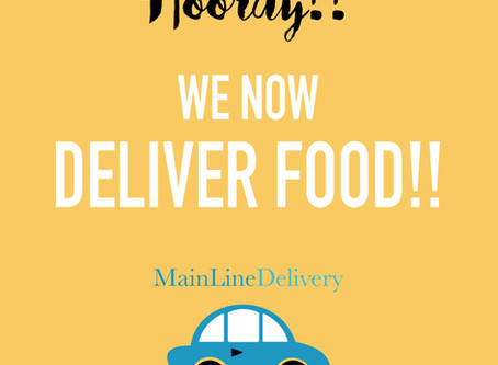 WE NOW DELIVER FOOD!!