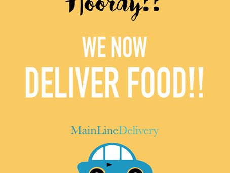 WE NOW DELIVER FOOD!!