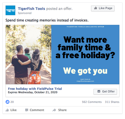 TigerFish Tools Facebook Ad Design