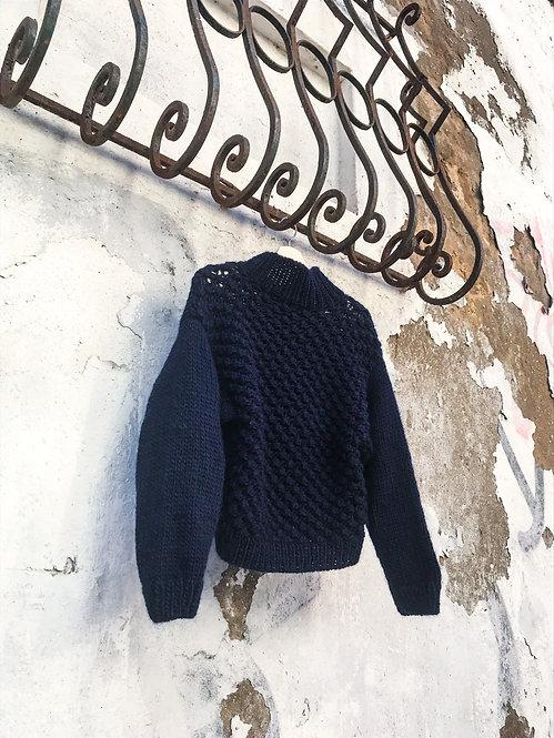 Uva blue wool | Knit sweater