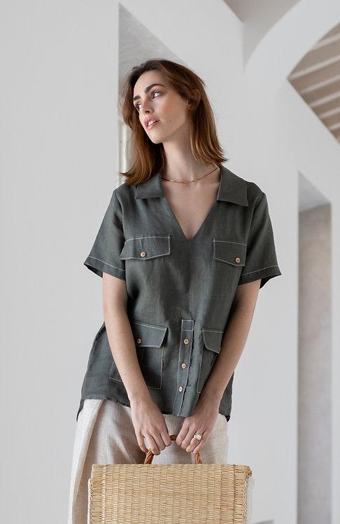 BALALAICA safari linen shirt
