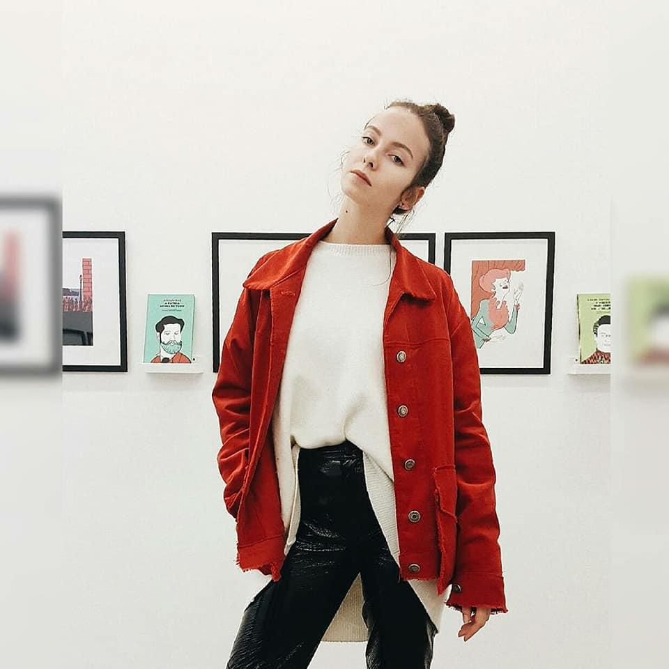 apricot jacket