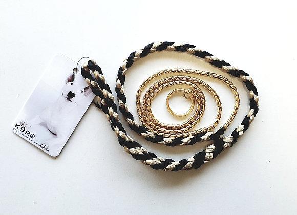 SHOW LEAD -Gold/Black, Gold Chain